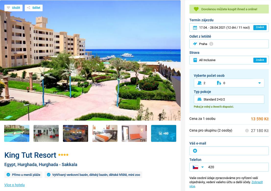 Screenshot 2021 03 30 Hotel King Tut Resort v Egypt Hurghada na Invia cz