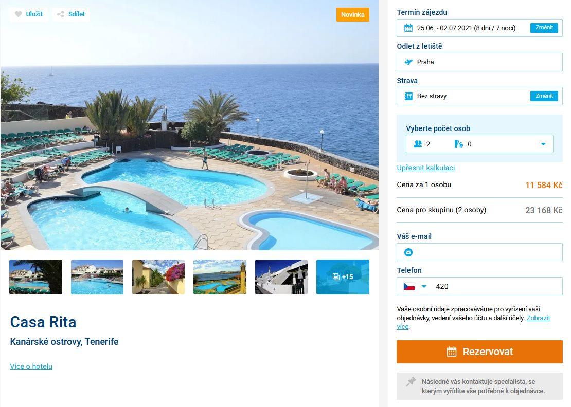screen 20210602 0646 - Levné Tenerife na 8 dní za 11584 Kč - letecky z Prahy