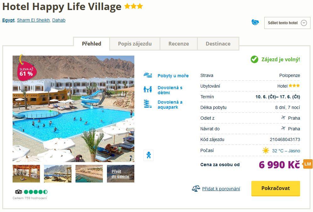 screen 20210604 0637 - Egypt s polopenzí na týden do skvělého hotelu za 6990 Kč