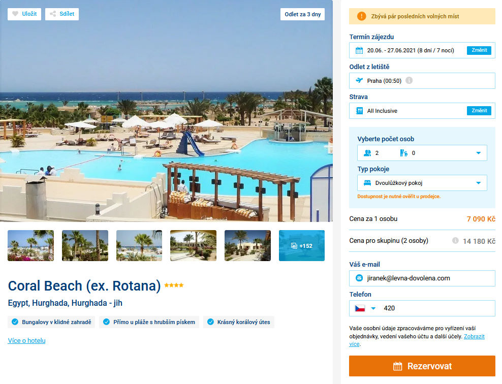 screen 20210617 0704 - Egyptská Hurghada s all inclusive na 8 dní za 7090 Kč letecky z Prahy
