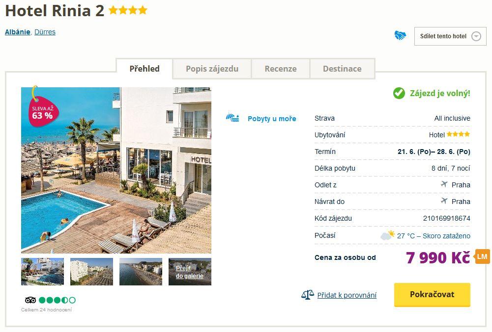 screen 20210617 1911 - Last minute dovolená v Albánii ve 4* hotelu s all inclusive za 7990 Kč