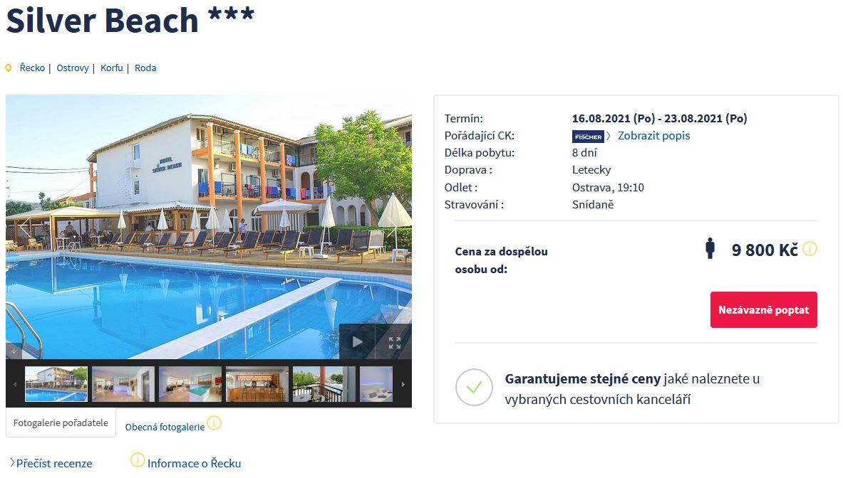 fi11 - Korfu letecky z Ostravy na 8 dní se snídaní za 9800 Kč - last minute