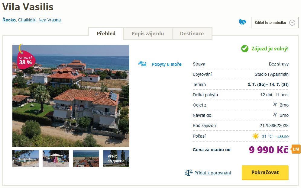 screen 20210602 0619 - Řecký ostrov Chalkidiki na 12 dní za 9990 Kč - zítra letecky z Brna