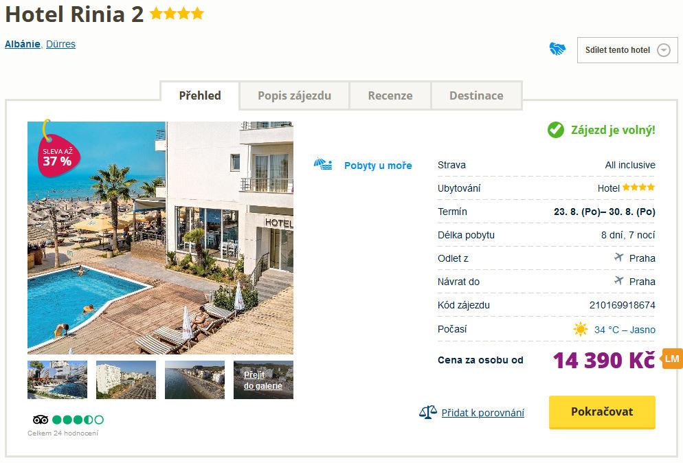 screen 20210706 1703 - Týden dovolené v Albánii ve 4* hotelu s all inclusive za 14390 Kč