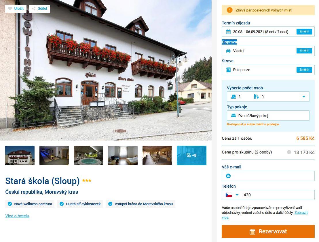 screen 20210709 0911 - Týdenní dovolená v Moravském Krasu s polopenzí za 6585 Kč