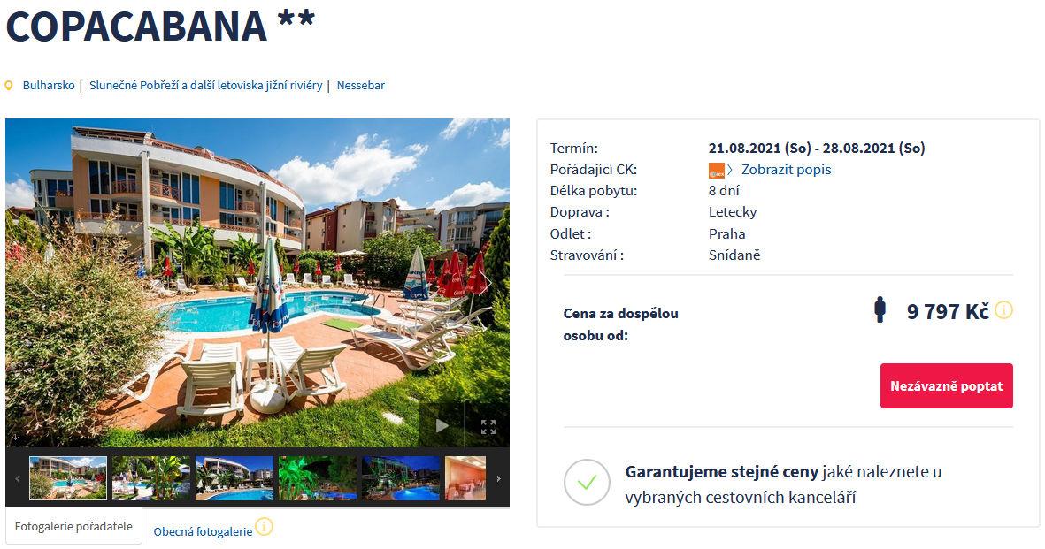 screen 20210722 0914 - Bulharsko, levná dovolená v Nessebaru na 8 dní za 9797 Kč letecky z Prahy
