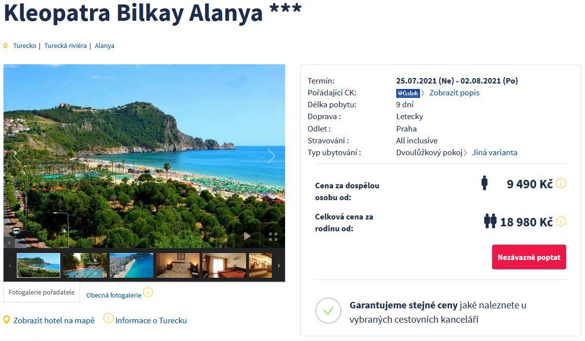 screen 20210724 0943 - Letecký zájezd do Turecka na 9 dní s all inclusive za 9490 Kč - last minute
