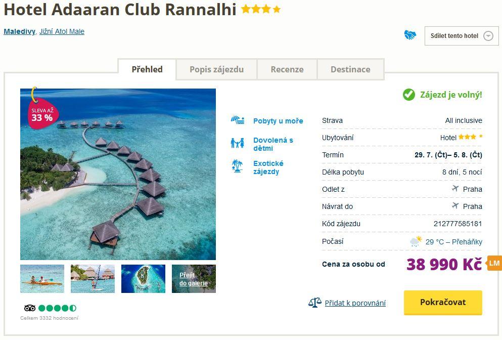 screen 20210724 1305 - Exotické Maledivy s all inclusive za 38990 Kč - týdenní last minute od Blue Style se slevou 33%