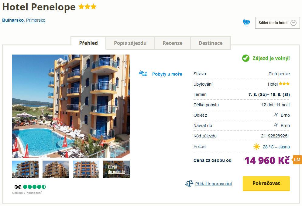 screen 20210725 1418 - Bulharsko s plnou penzí letecky na 12 dní do skvělého hotelu za 14960 Kč
