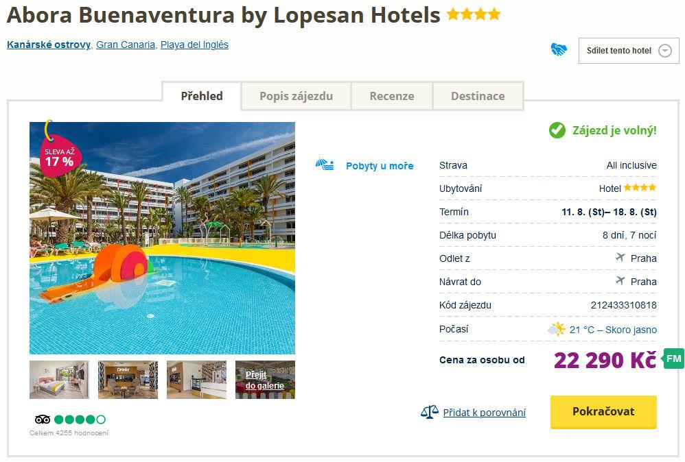 screen 20210727 1700 - Týden na Gran Canaria s pobytem ve 4* all inclusive hotelu za 22290 Kč