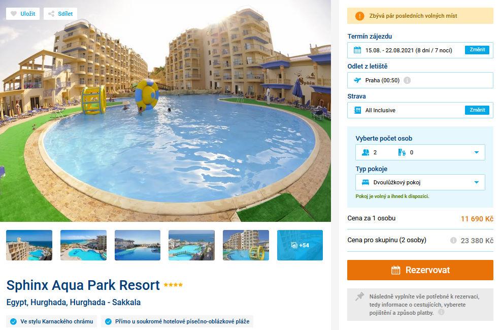 screen 20210728 1743 - Letecky do Egypta - Hurghada na 8 dní s all inclusive za 11690 Kč (last minute)