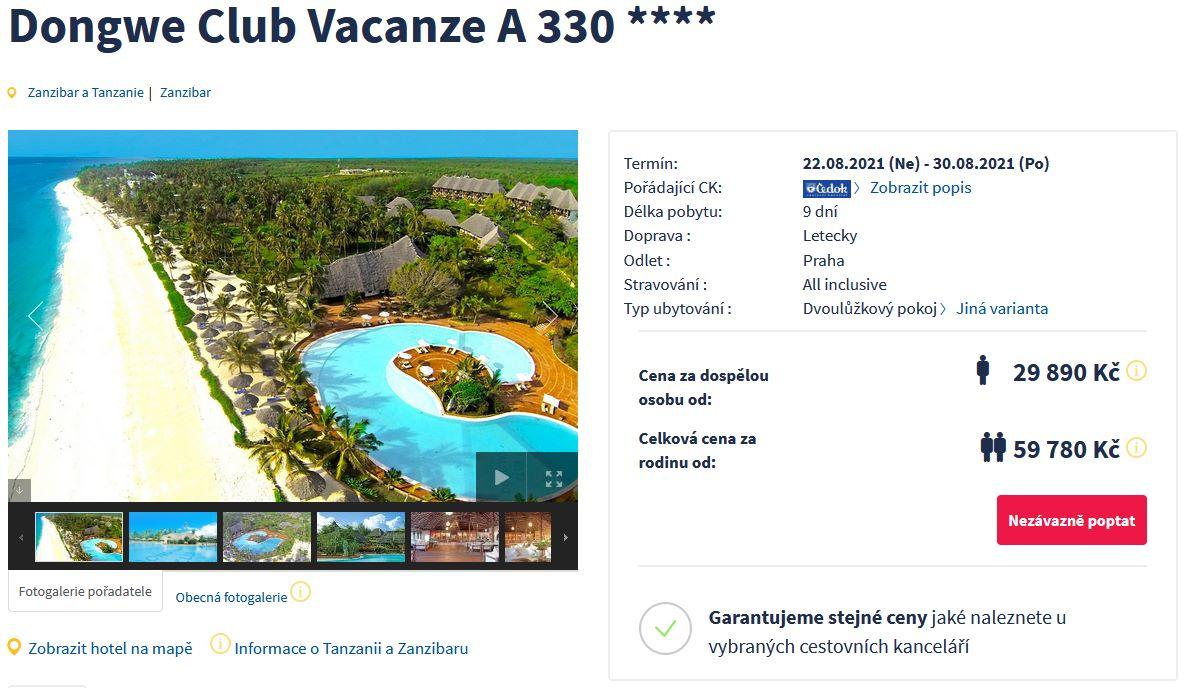 screen 20210729 2100 - Srpnový Zanzibar s all inclusive na 9 dní do 4* hotelu za 29890 Kč letecky z Prahy
