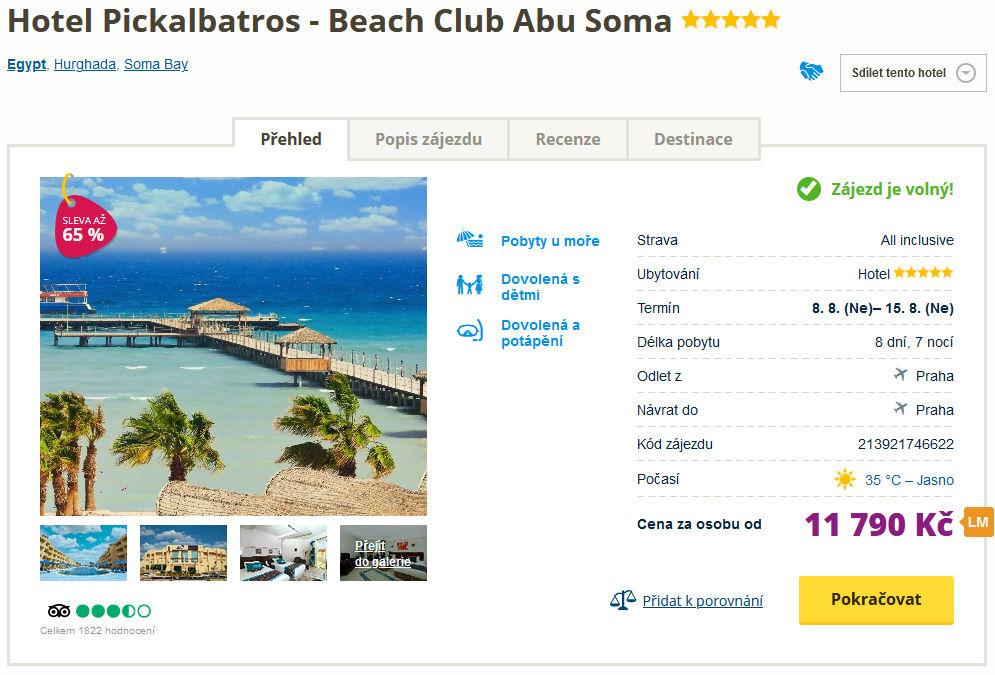 screen 20210731 0729 - Levný týdenní zájezd do Egypta s all inclusive za 11790 Kč - 5* hotel se slevou 65%