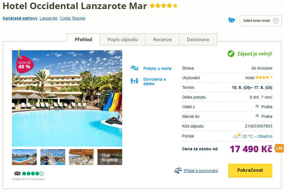 screen 20210803 0733 - Lanzarote all inclusive na týden do 4* hotelu za 17490 Kč - last minute se slevou 48%