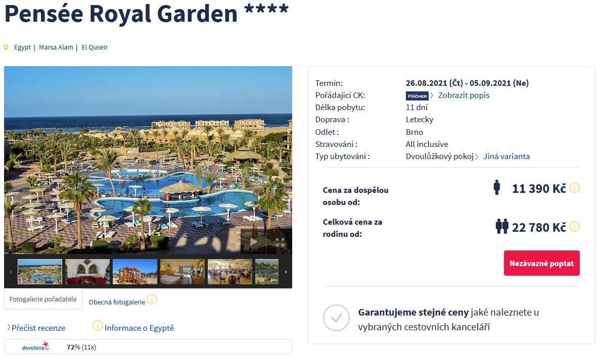 screen 20210803 2109 - Levný zájezd do Egypta na 11 dní s all inclusive za 11390 Kč - letecky z Brna