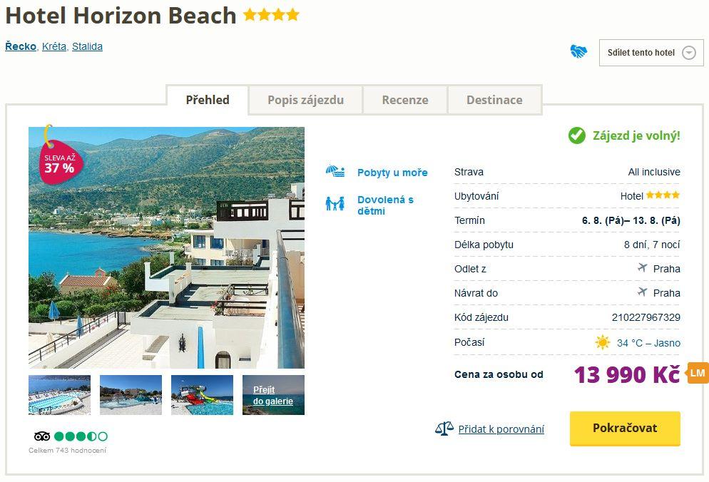 screen 20210804 0618 - Kréta letecky z Prahy s all inclusive do 4* hotelu za 13990 Kč (sleva 37%)