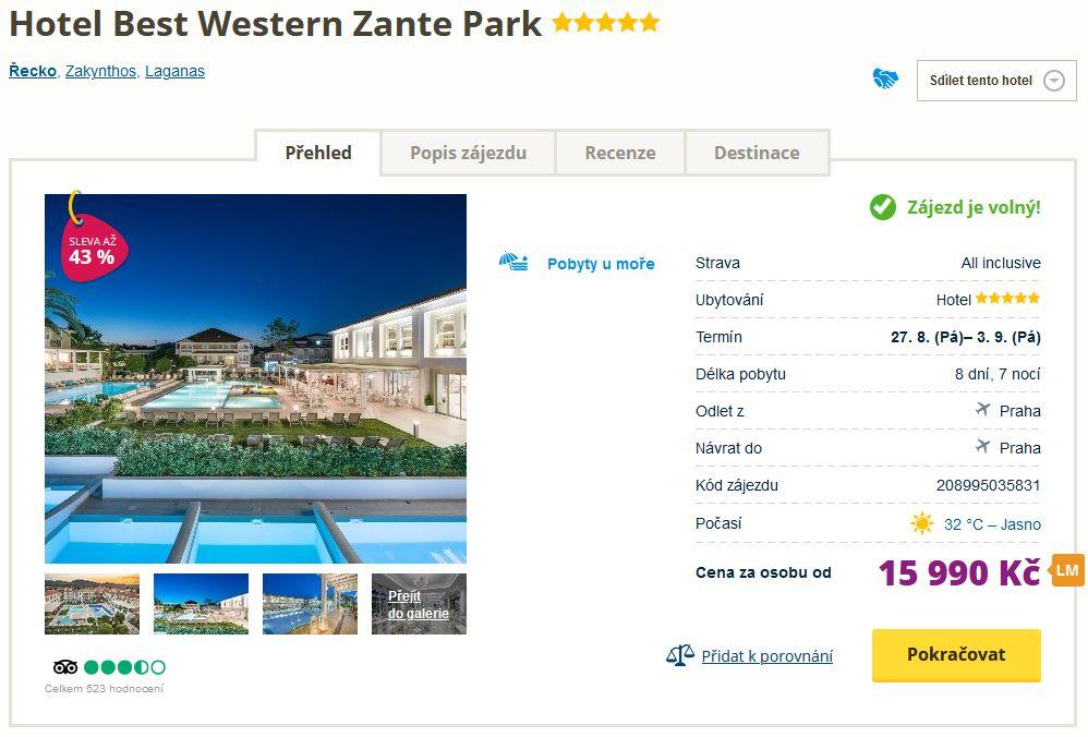 screen 20210804 0635 - Luxusní dovolená Zakynthos - týdení pobyt v 5* hotelu s all inclusive za 15990 Kč (odlet z Prahy)