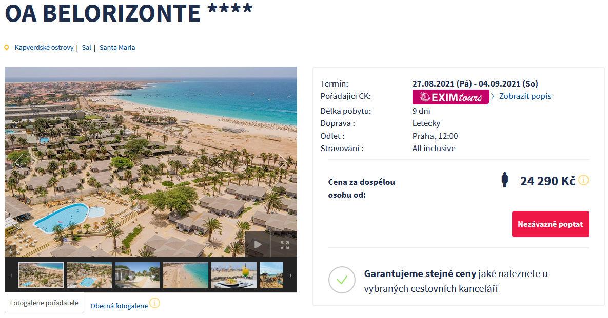 screen 20210805 0640 - All inclusive Kapverdské ostrovy s EXIMtours na 9 dní za 24290 Kč - letecky z Prahy