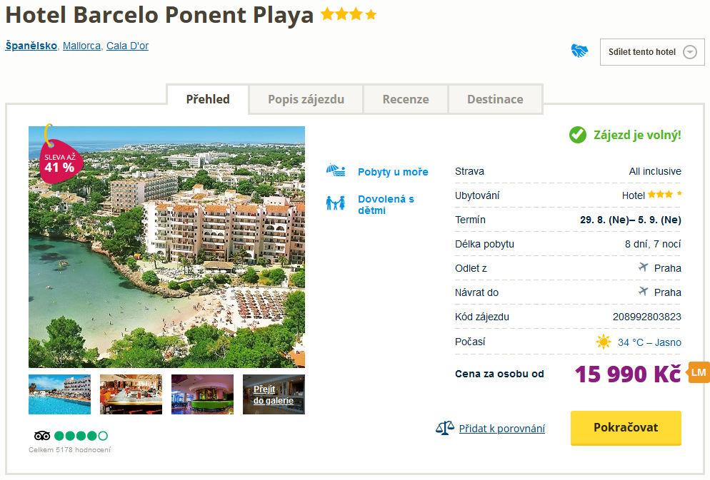 screen 20210806 0709 - Mallorca dovolená last minute na týden do 4* hotelu s all inclusive za 15990 Kč