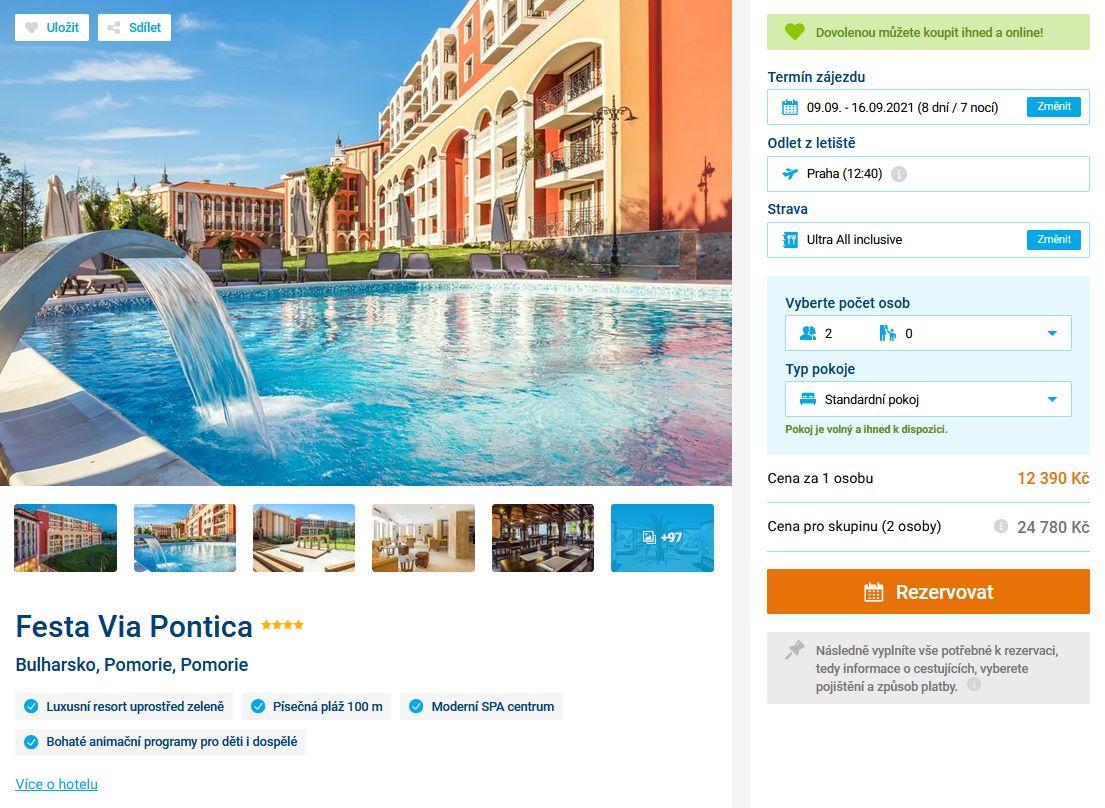 screen 20210806 1922 - Bulharsko luxusní resort na 8 dní s ultra all inclusive v září za 12390 Kč - letecky z Prahy