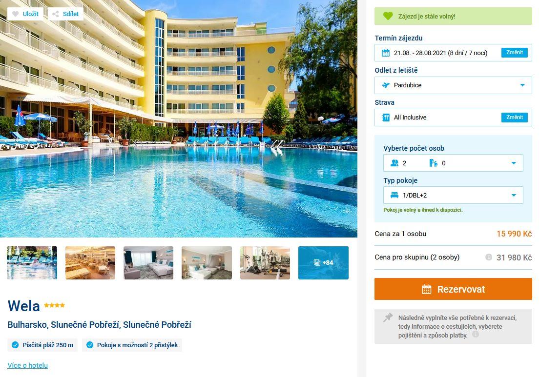 screen 20210807 1122 - Bulharsko letecky z Pardubic na 8 dní do 4* hotelu s all inclusive za 15990 Kč