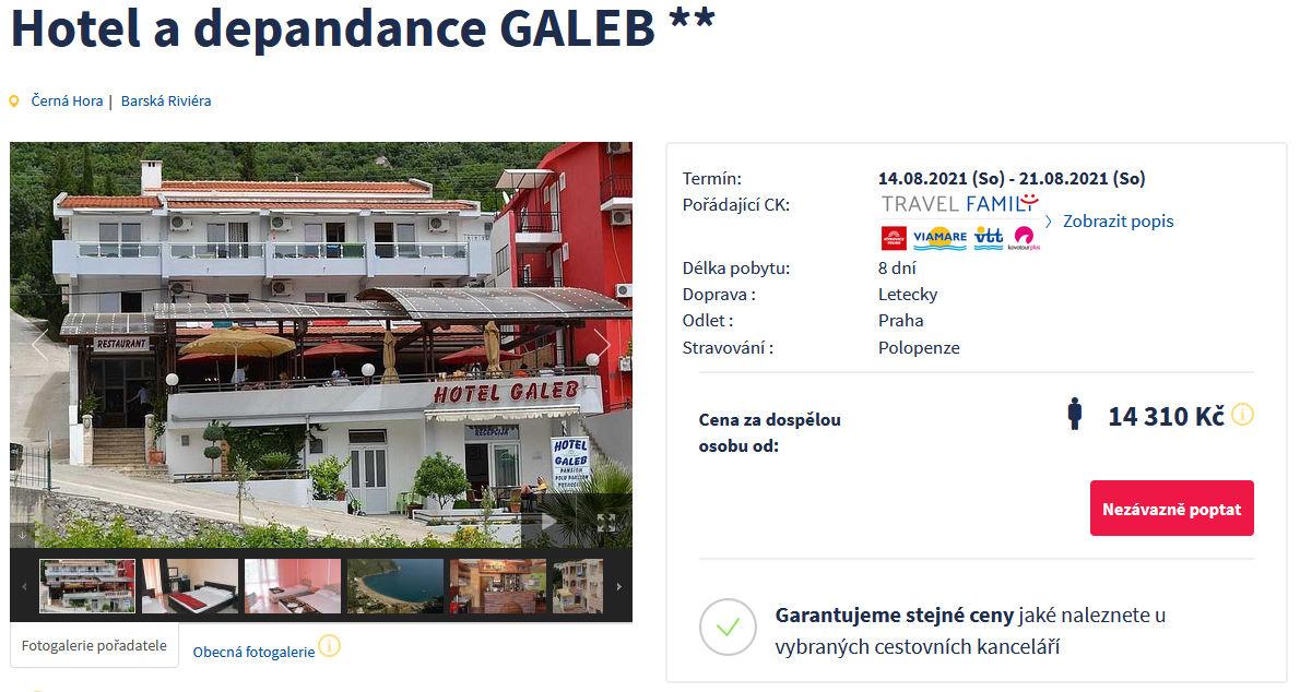 screen 20210807 1621 - Černá Hora s polopenzí, týden dovolené na Barské Riviéře za 14310 Kč