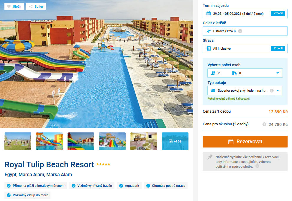 screen 20210808 1724 - Konec léta v Egyptě na 8 dní do 5* hotelu s all inclusive za 12390 Kč - letecky z Ostravy