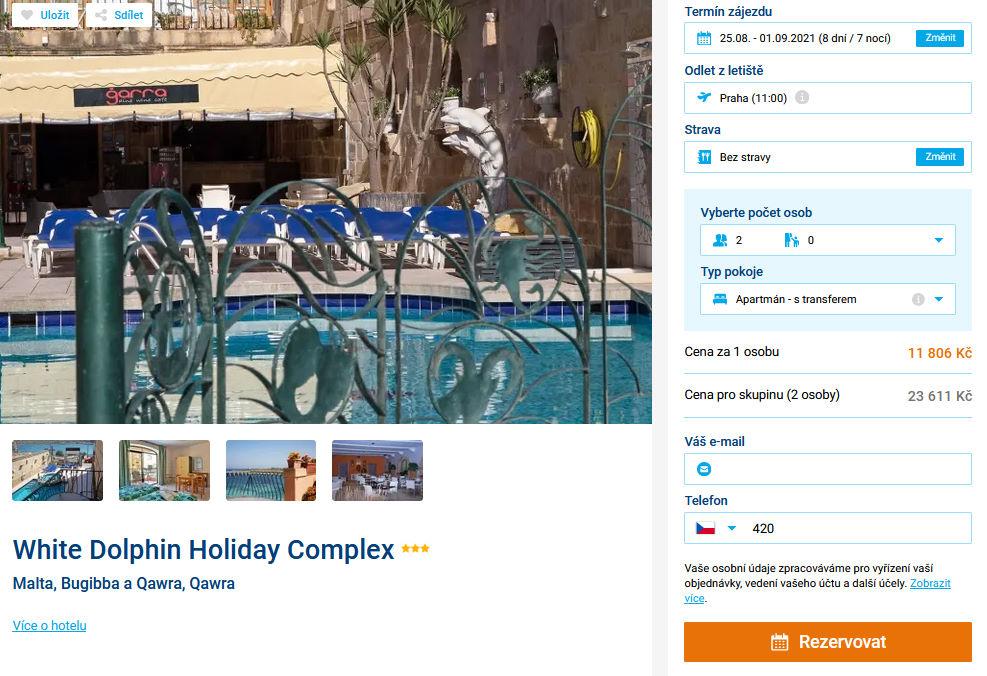 screen 20210809 1638 - Levná dovolená na Maltě - 8 denní pobyt ve 3* hotelu za 10806 Kč