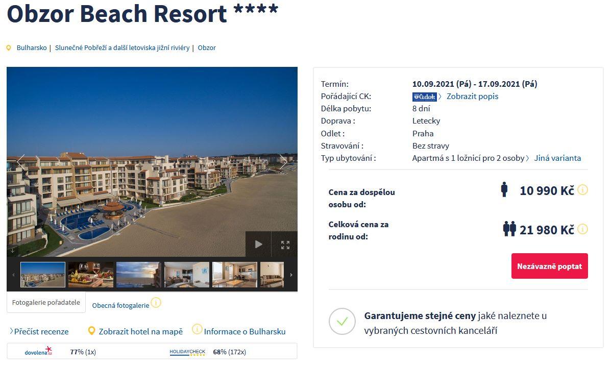 screen 20210813 0634 - Bulharsko v září na 8 dní do 4* hotelu za 10990 Kč - letecky z Prahy