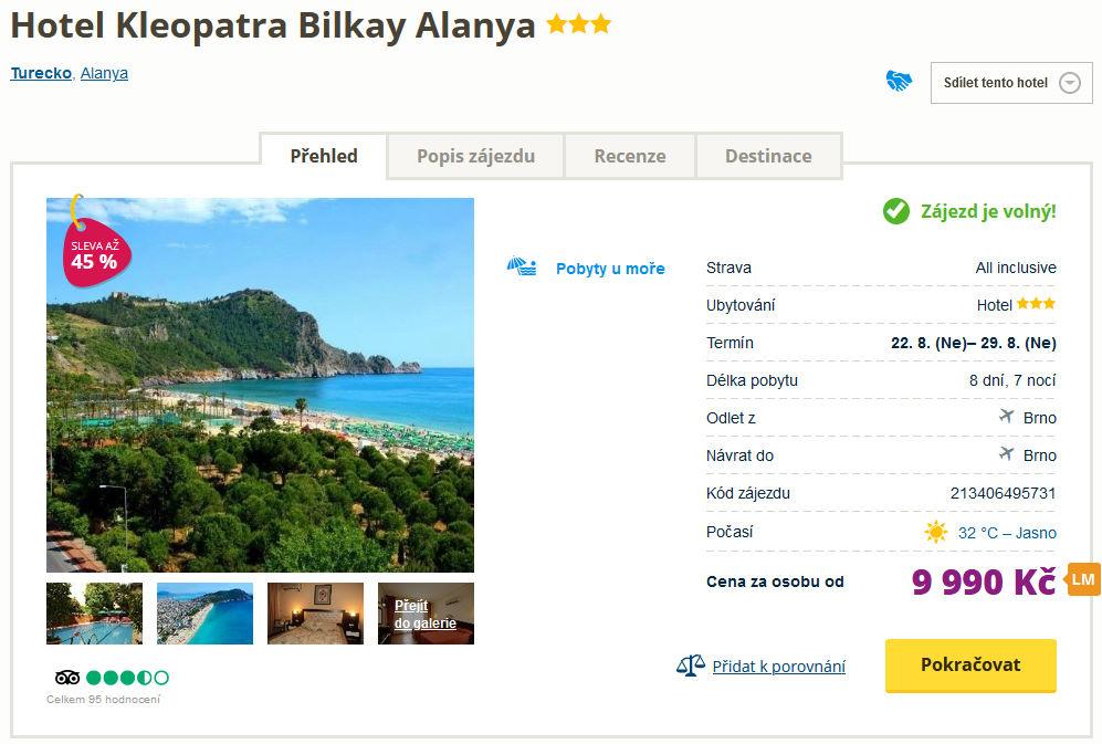 screen 20210815 1628 - Turecko, Alanya koncem srpna letecky z Brna s all inclusive za 9990 Kč
