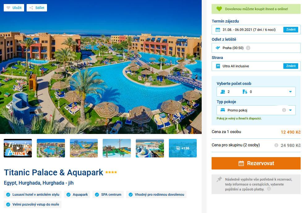 screen 20210817 1646 - Egypt ultra all inclusive, Hurghada na 7 dní letecky z Prahy na konci sprna za 12490 Kč