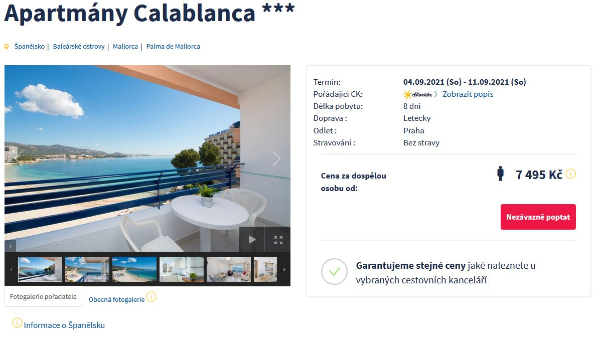 screen 20210818 1805 - Španělsko, Palma de Mallorca na 8 dní za 7495 Kč - normal letecky z Prahy