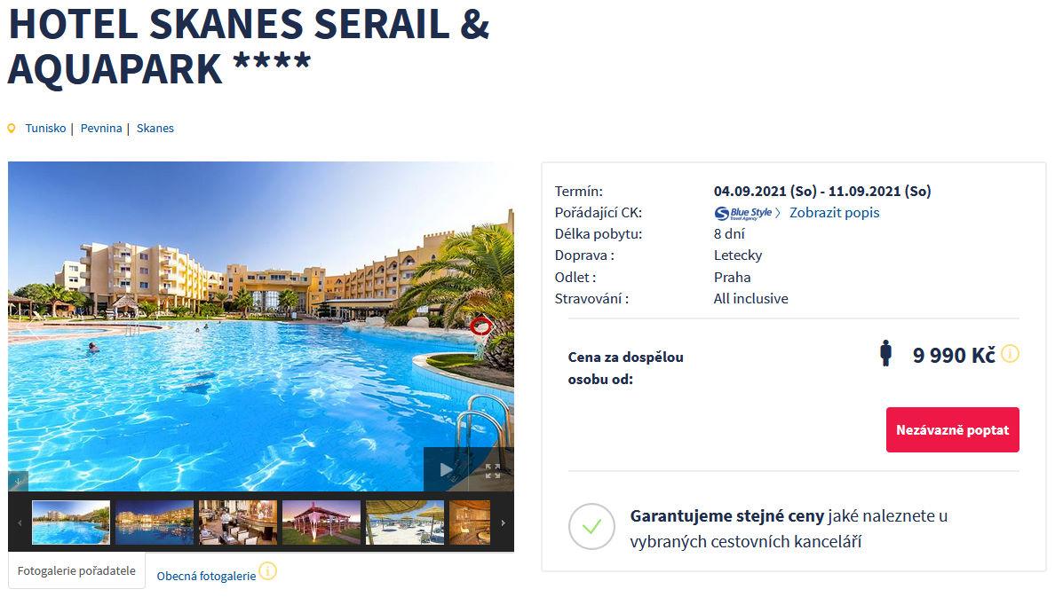 screen 20210820 0648 - All inclusive Tunisko v září na 8 dní za 9990 Kč letecky z Prahy