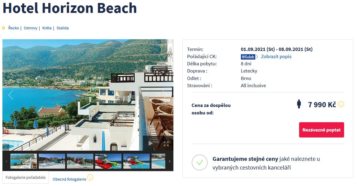 screen 20210830 1621 - Řecká Kréta s Čedokem na 8 dní včetně all inclusive za 7990 Kč - letecky z Brna