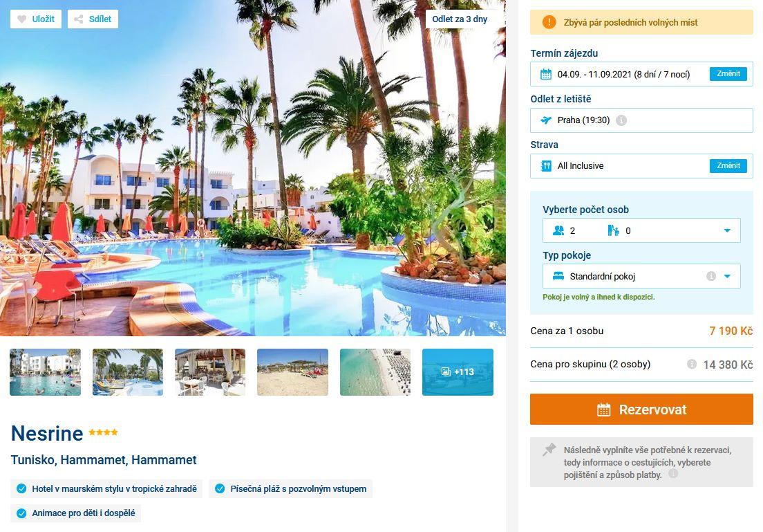 screen 20210901 1911 - Levný zájezd do Tuniska na 8 dní s all inclusive za 7190 Kč - last minute letecky z Prahy