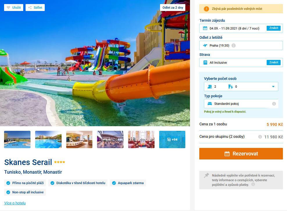 screen 20210902 1458 - Ultra levná dovolená v Tunisku s all inclusive za 5990 Kč - last minute letecky z Prahy