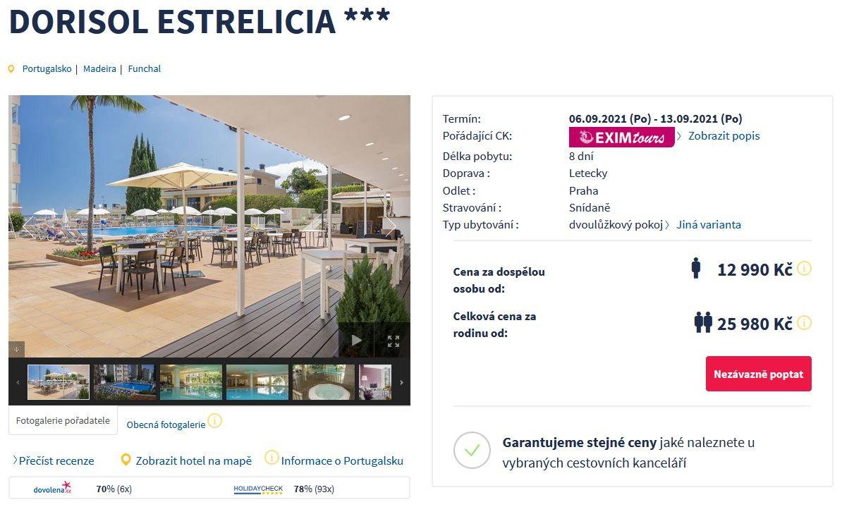 screen 20210904 0835 - Portugalsko, Madeira letecky z Prahy se snídaní na 8 dní za 12990 Kč