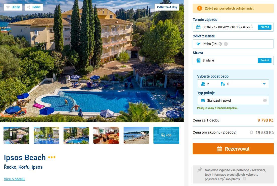 screen 20210904 1048 - Řecko, Korfu na 10 dní do 3* hotelu se snídaní za 9790 Kč - letecky z Prahy