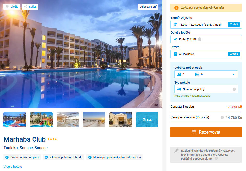 screen 20210906 0640 - Levná dovolená v Tunisku na 8 dní s all inclusive za 7390 Kč - letecky z Prahy