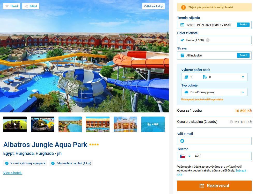 screen 20210908 0641 - Egypt, levná dovolená Hurghada na 8 dní s all inclusive za 10590 Kč - letecky z Prahy