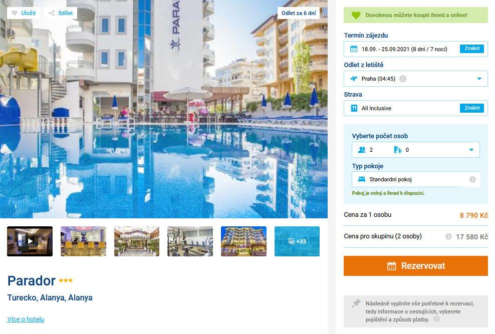 screen 20210912 1318 - Turecko - levná dovolená v Alanyi na 8 dní s all inclusive za 8790 Kč